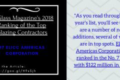USGlass Magazine's 2018 Ranking of the Top Glazing Contractors